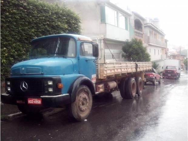 Caminhão - motor novo - mercedes-bens 1113 - aceito troca