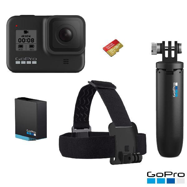Camera digital gopro hero 8 + acessórios