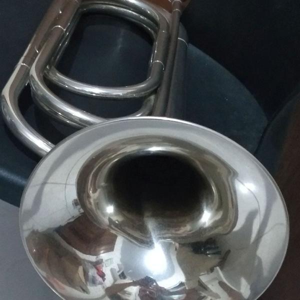 Cornetão quirino c/ bocal de prata
