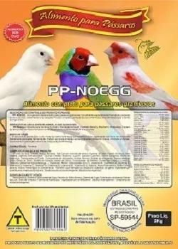 Farinhada ração pássaros pp-noegg 5 kg - combo 2 pacotes
