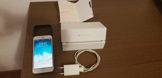 Iphone 6, 16 gigas, cor prata, com nota fiscal