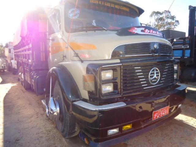 Mb 1113 1972 truck, turbo, reduzido, dh, freio a ar, pneus