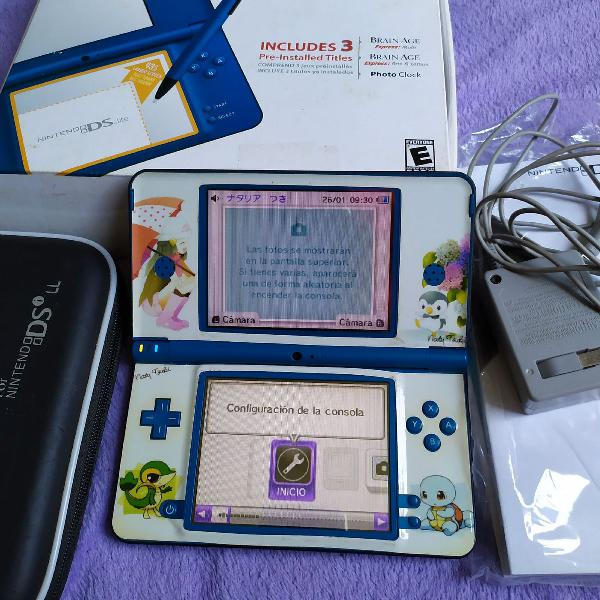 Nintendo dsixl azul com caixa