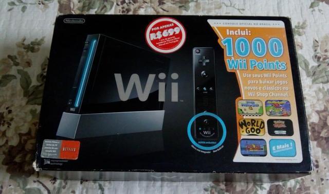 Nintendo wii black na caixa