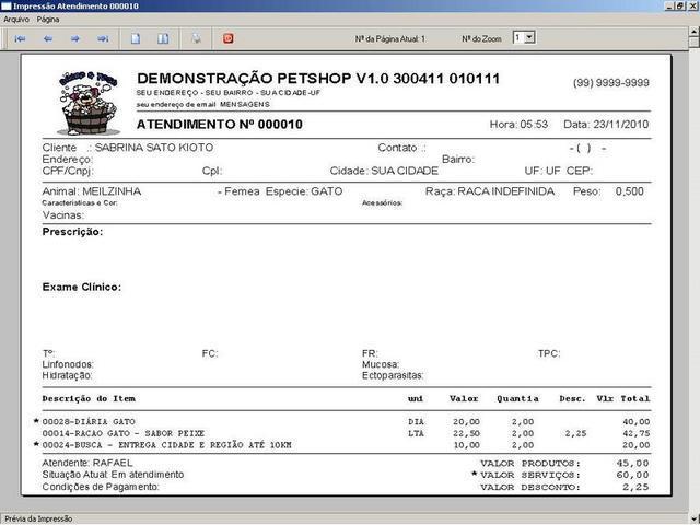 Programa software para clinica veterinária e petshop v1.0 -