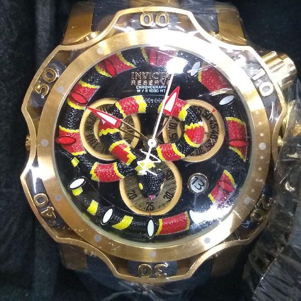 Relógio invicta reserve cobra super novidade linha premium