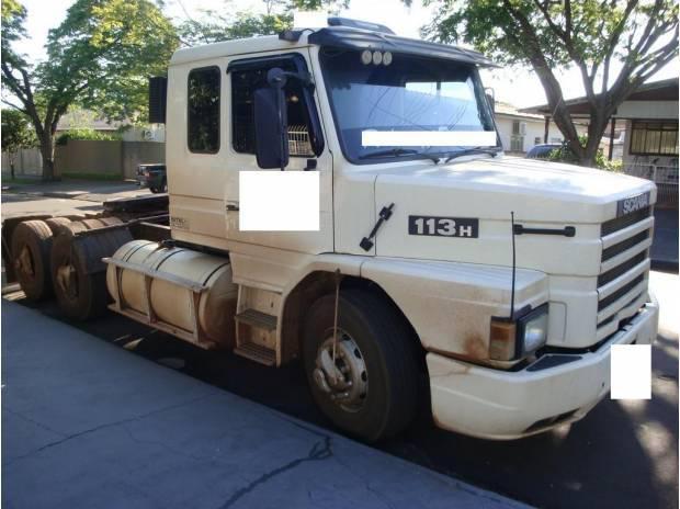 Scania 113 360 trucada -impecavel cor branca