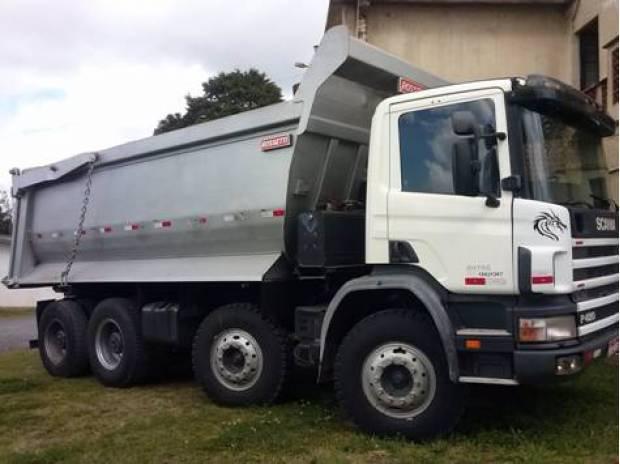 Scania p 420 8x4 cacamba ano 2007