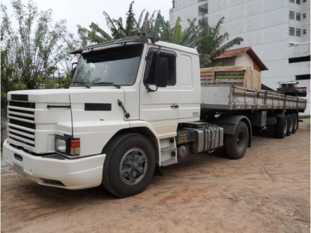 Scania t 112 hs carreta tampa baixa