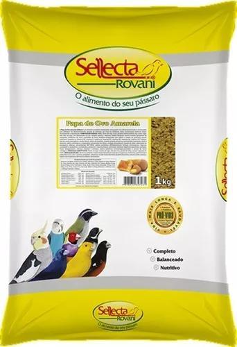 Sellecta papa de ovo amarela 1kg farinhada passaros amarelos