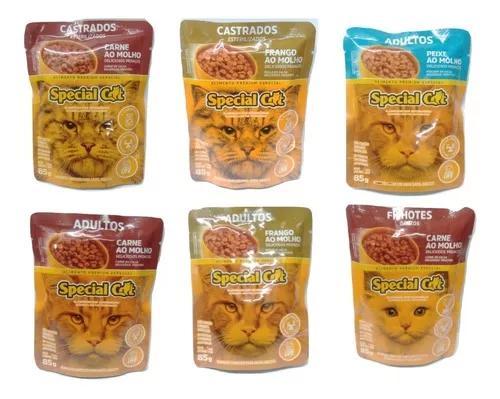 Special cat sache pra gato adulto sabor variado caixa c/ 20