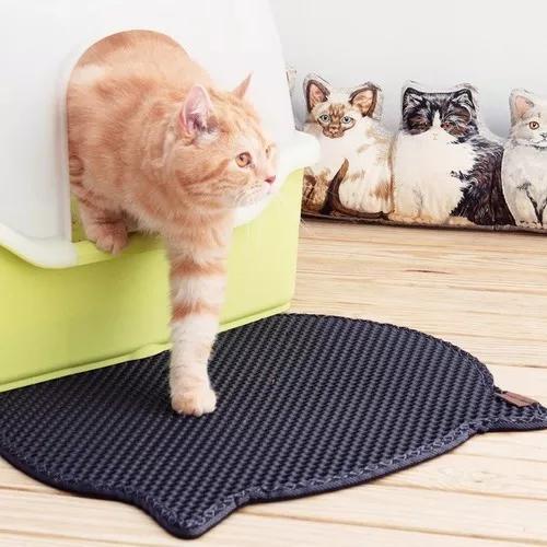 Tapete higiênico caixa areia de gato anti sujeira g 68x60