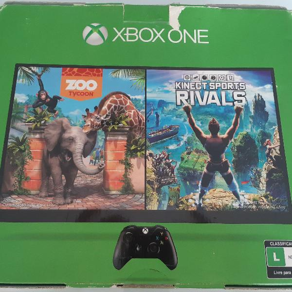 Xbox one 500gb c/ kinect e 2 controles