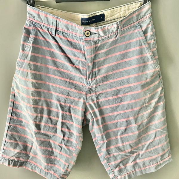 Bermuda masculina listrada original jeans