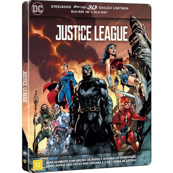 Bluray steelbook liga da justiça ( 3d + 2d )