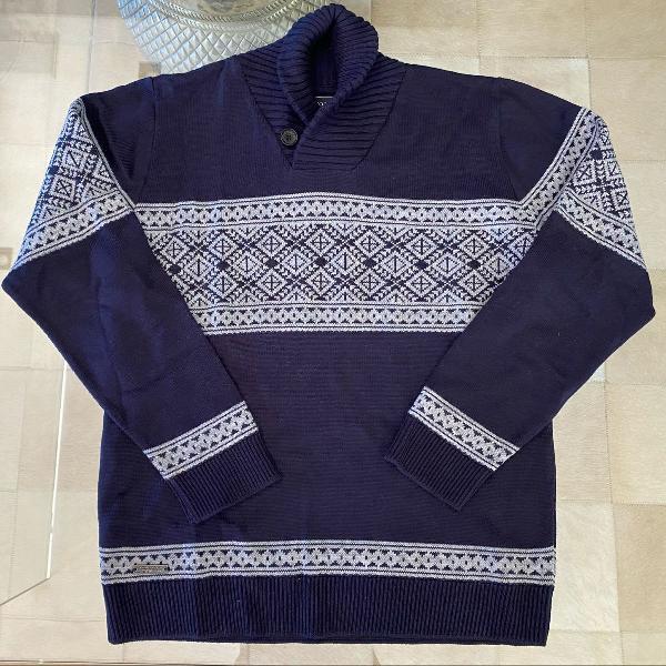 Blusão azul marinho e cinza espírito santo tamanho m