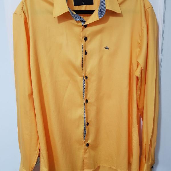 Camisa alfaiataria manga comprida 100%algodão acetinada