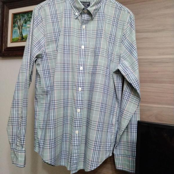 Camisa aqbercrombie xadrez