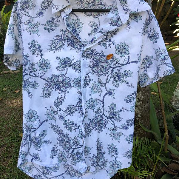 Camisa masculina floral tropicus