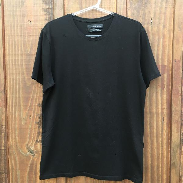 Camiseta slim fit zara preta