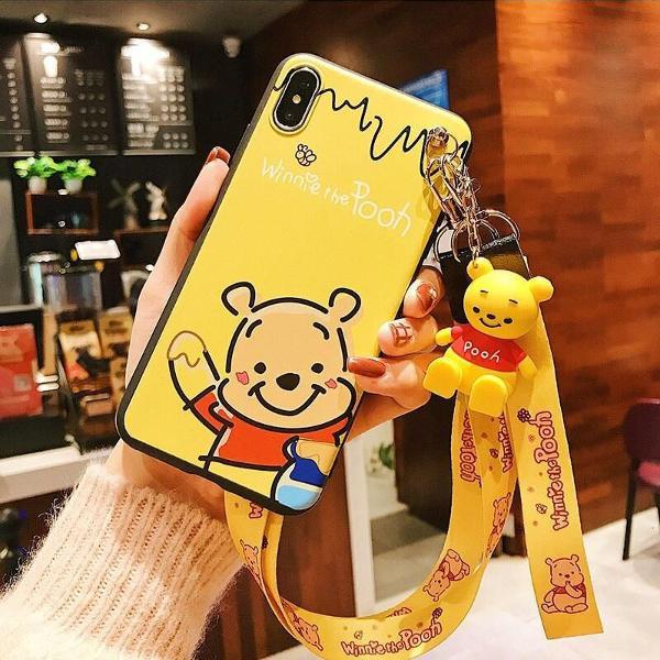 Capa iphone 8 plus ursinho pooh 3d