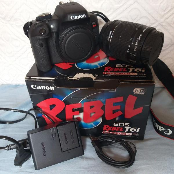 Câmera fotográfica cânon rebel t6i