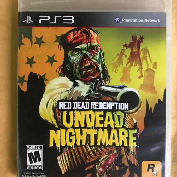 Jogo red dead redemption: undead nightmare para ps3