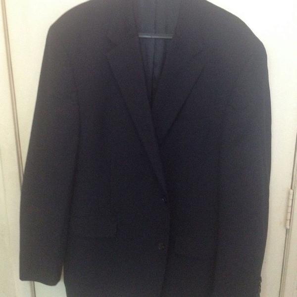 Michael kors, blazer azul marinho de lã fina