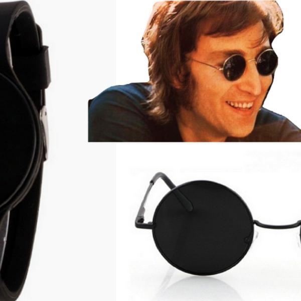 Relógio digital unissex preto led + óculos beatles