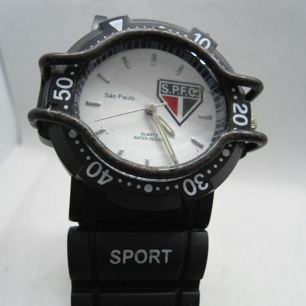 Relógio do são paulo futebol clube usado em mostruario