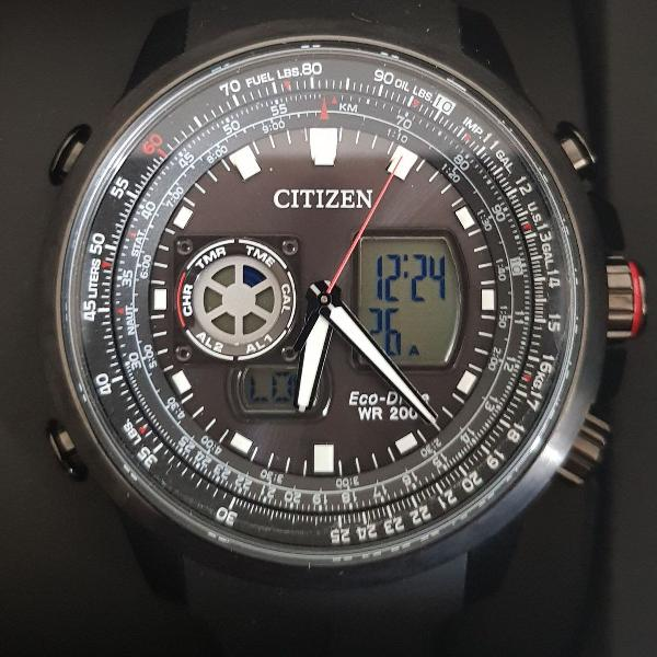 Relógio masculino citizen analógico/digital esportivo