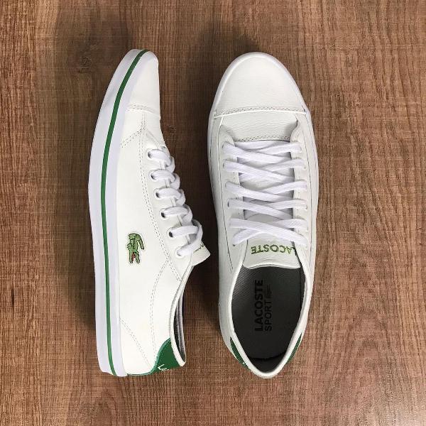 Sapatênis lacoste - branco com verde