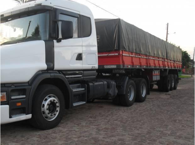 Scania 124 420 e carreta guerra