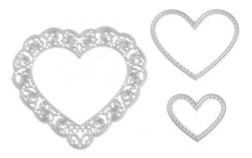 2 conjuntos coração corte metal dies stencils diy