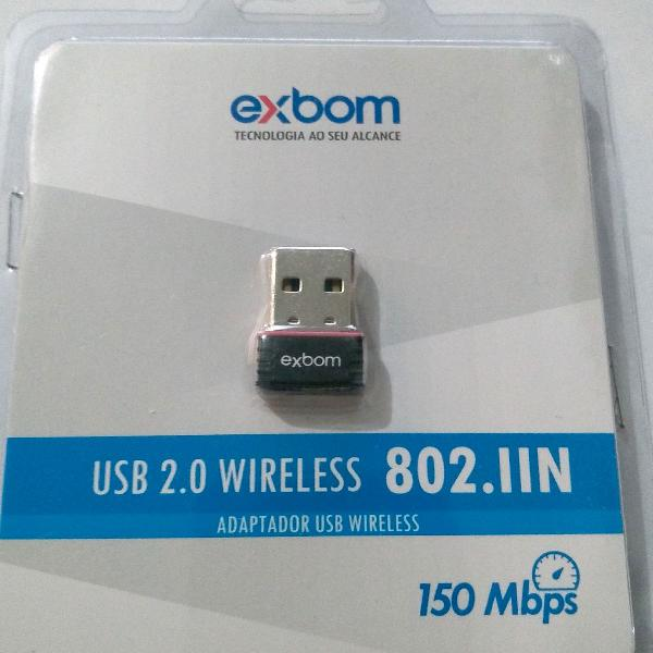 Adaptador wifi - wireless nano 150mbps usb 802.iin