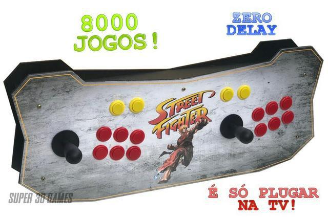 Arcade / fliperama portátil 8 mil jogos so plugar e jogar