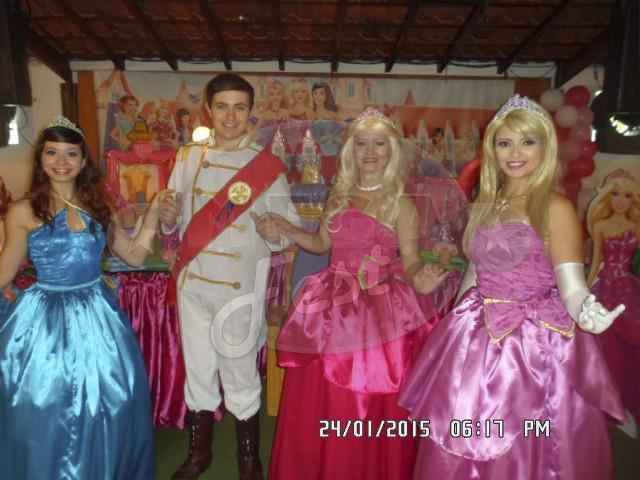 Barbie escola de princesas - animação de festa