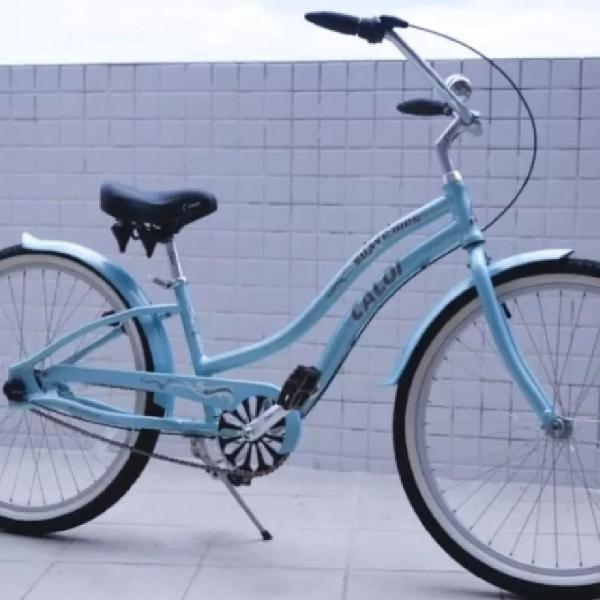 Bicicleta caloi suave três feminina