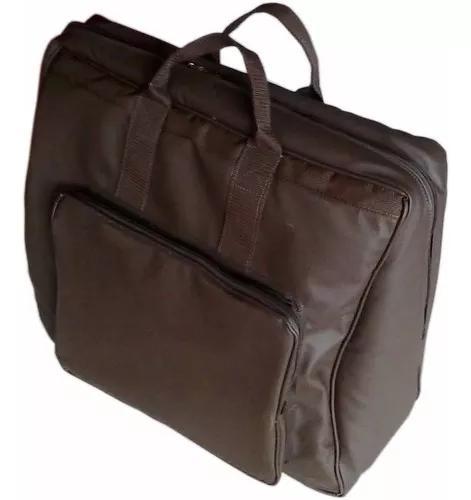 Capa bag acordeon,gaita,sanfona 120 baixos couro ecológico