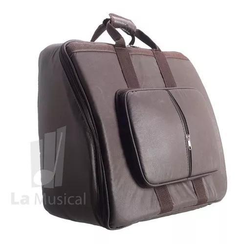 Capa bag para acordeon 80 baixos golden couro ecológico