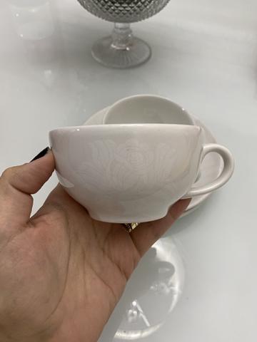 Conjunto 8 xícaras, porcelana, oxford.