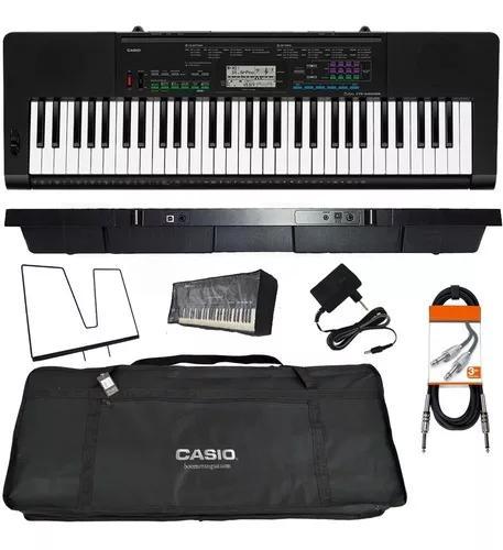 Kit teclado musical 61 teclas ctk-3400 casio + acessórios