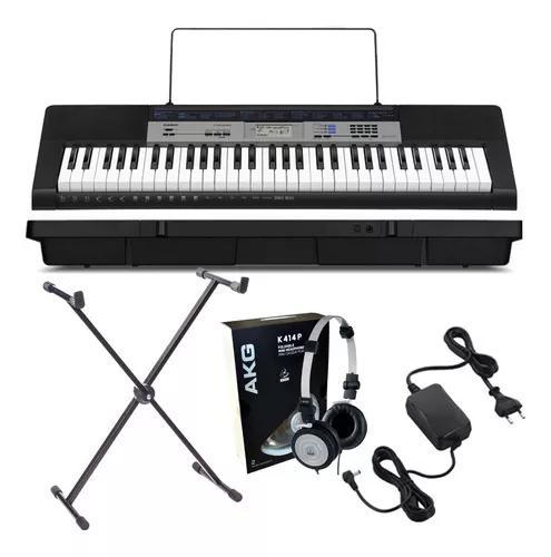 Kit teclado musical casio ctk 1550 digital + acessórios +