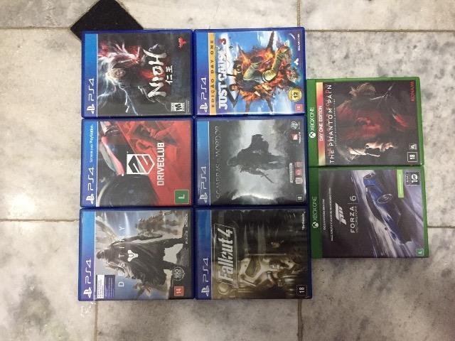 Lote com 8 jogos de ps4 e xbox one