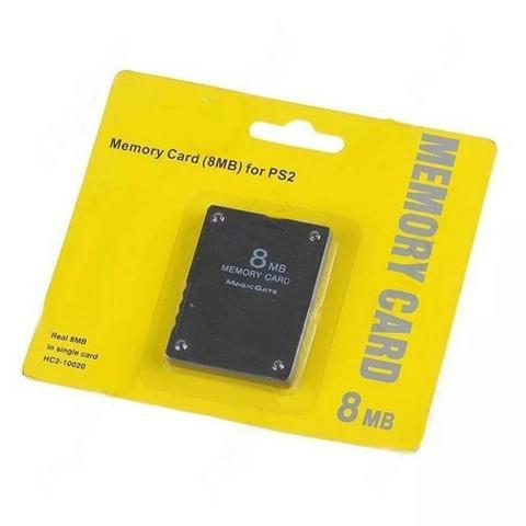 Memory card 8 e 16 mb para playstation 2 ps2