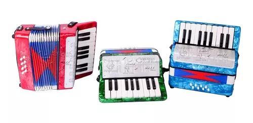Mini acordeon sanfona musical infantil criança 8 baixos