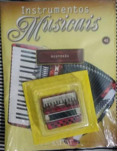 Miniatura instrumentos musicais salvat #40 acordeão +