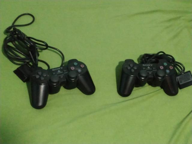 PlayStation 2 (Console, dois controles, guitarra guitar