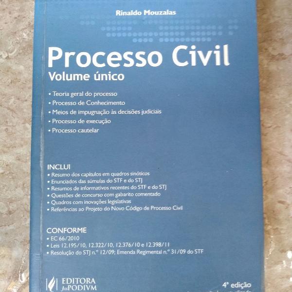 Processo civil - volume único