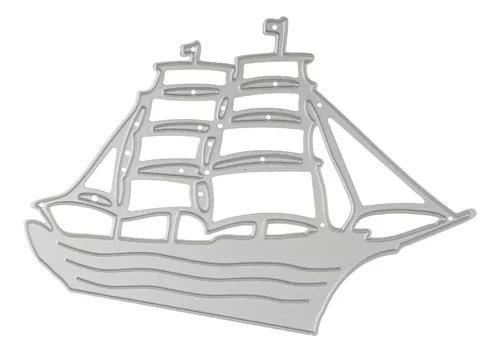 Projeto do navio de corte de metal morre estêncil álbum